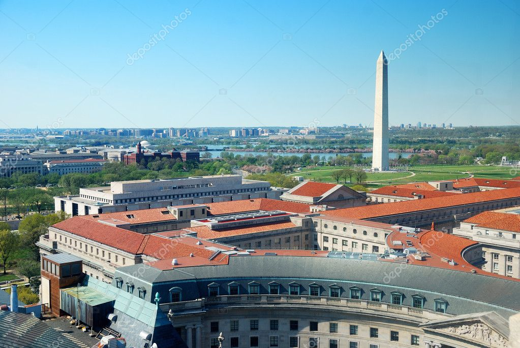 Veduta aerea di washington dc citt foto stock for Piani di washington