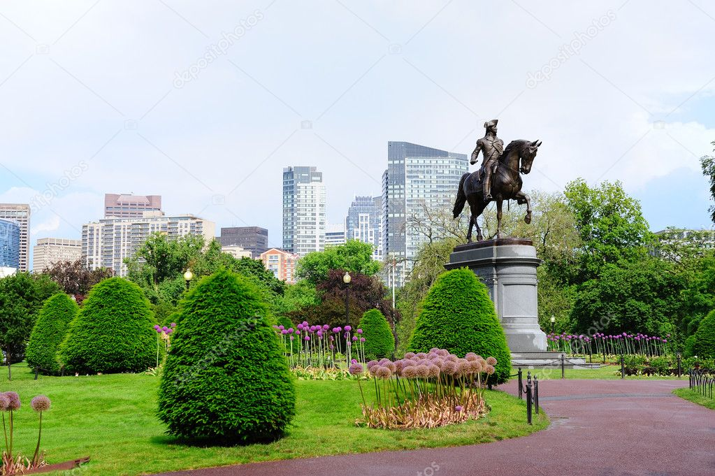 Boston Common Park Garden Stock Photo Rabbit75 Dep 6083789