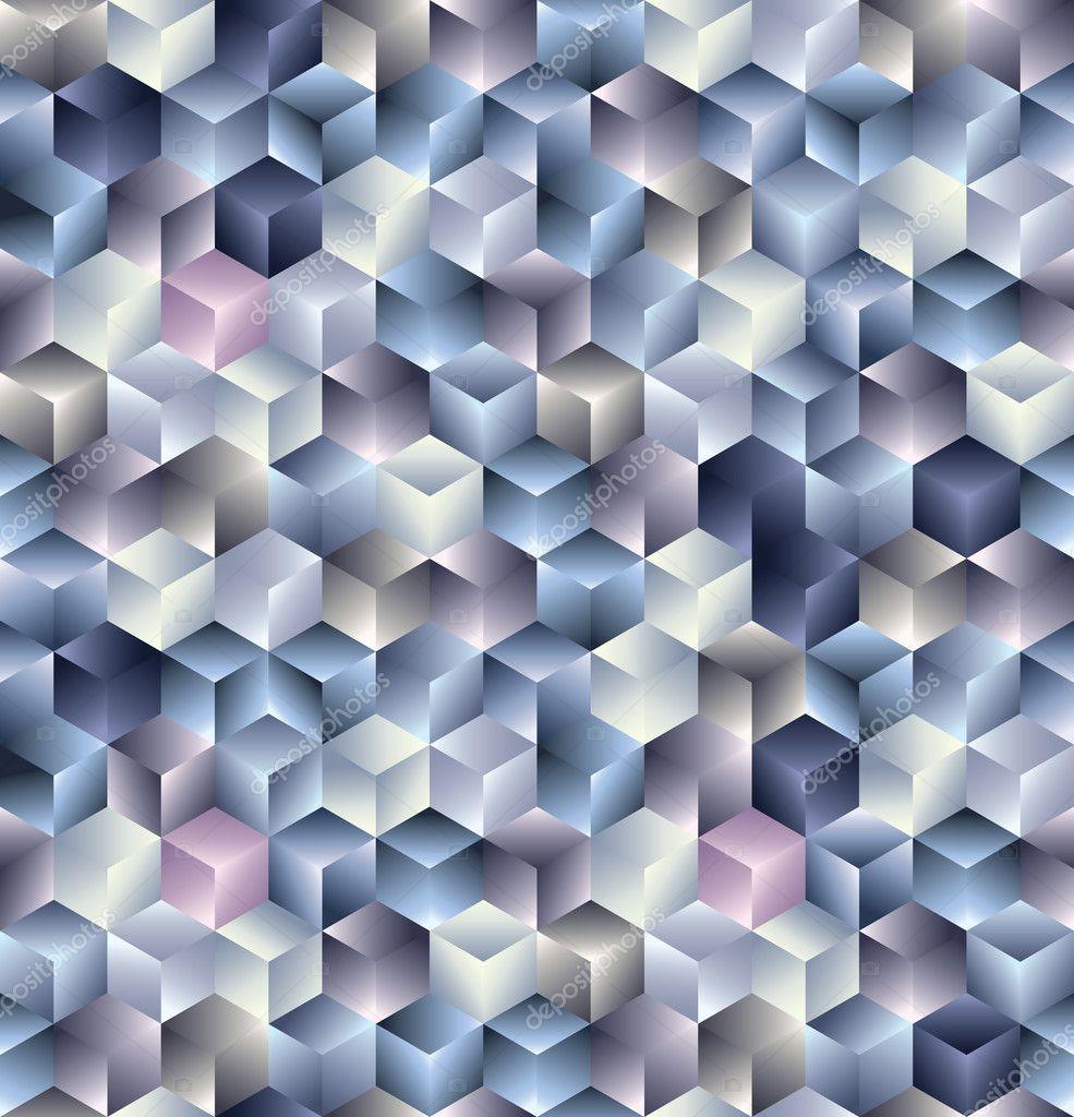 3d cubes seamless pattern stock vector ostapius 6179355