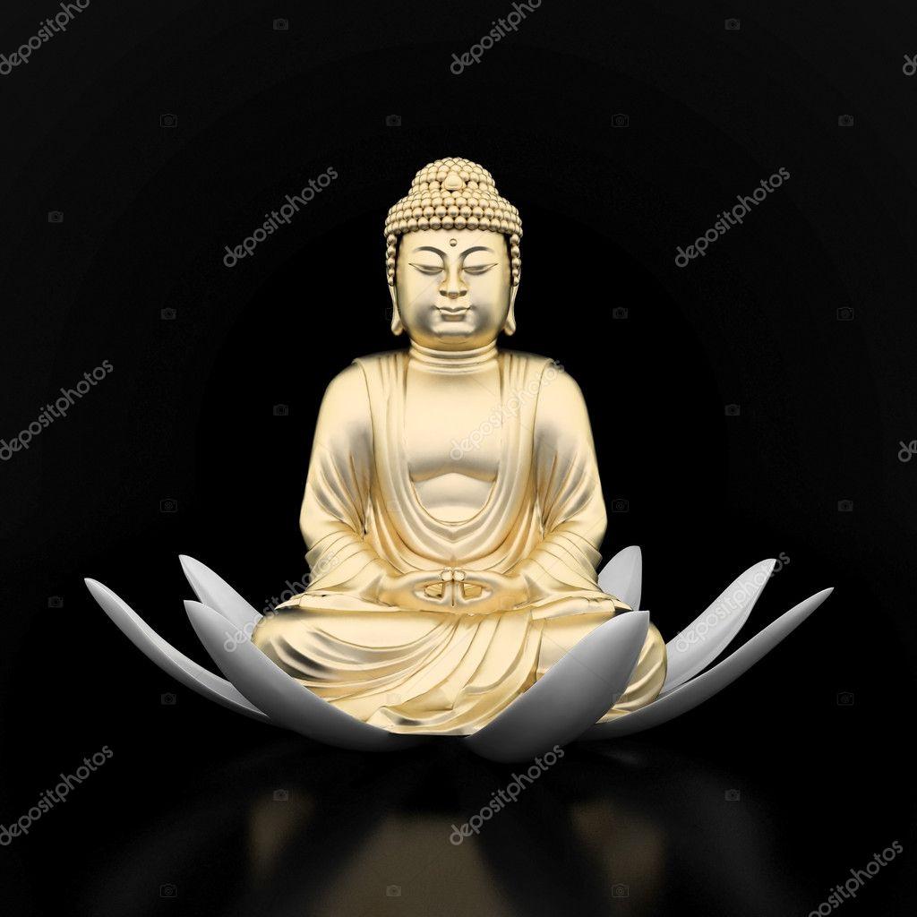 Gold statue of Buddha