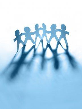 Team of holding hands together