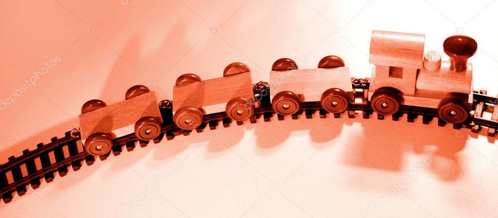 Stock De Madera Tren © Antiguo Foto Juguete — Stillfx Pista En 34ARq5ScLj