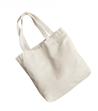 White nano fabric like bag