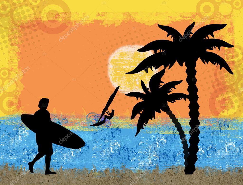 Surf grunge scene