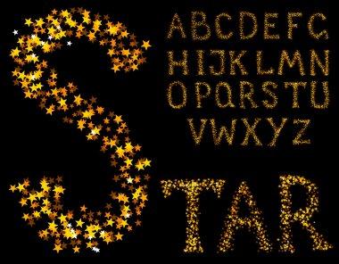 Sparkle alphabet
