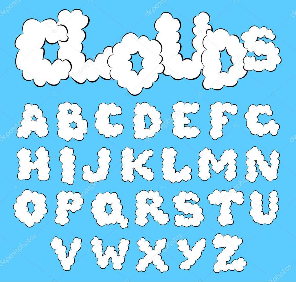 Clouds alphabet