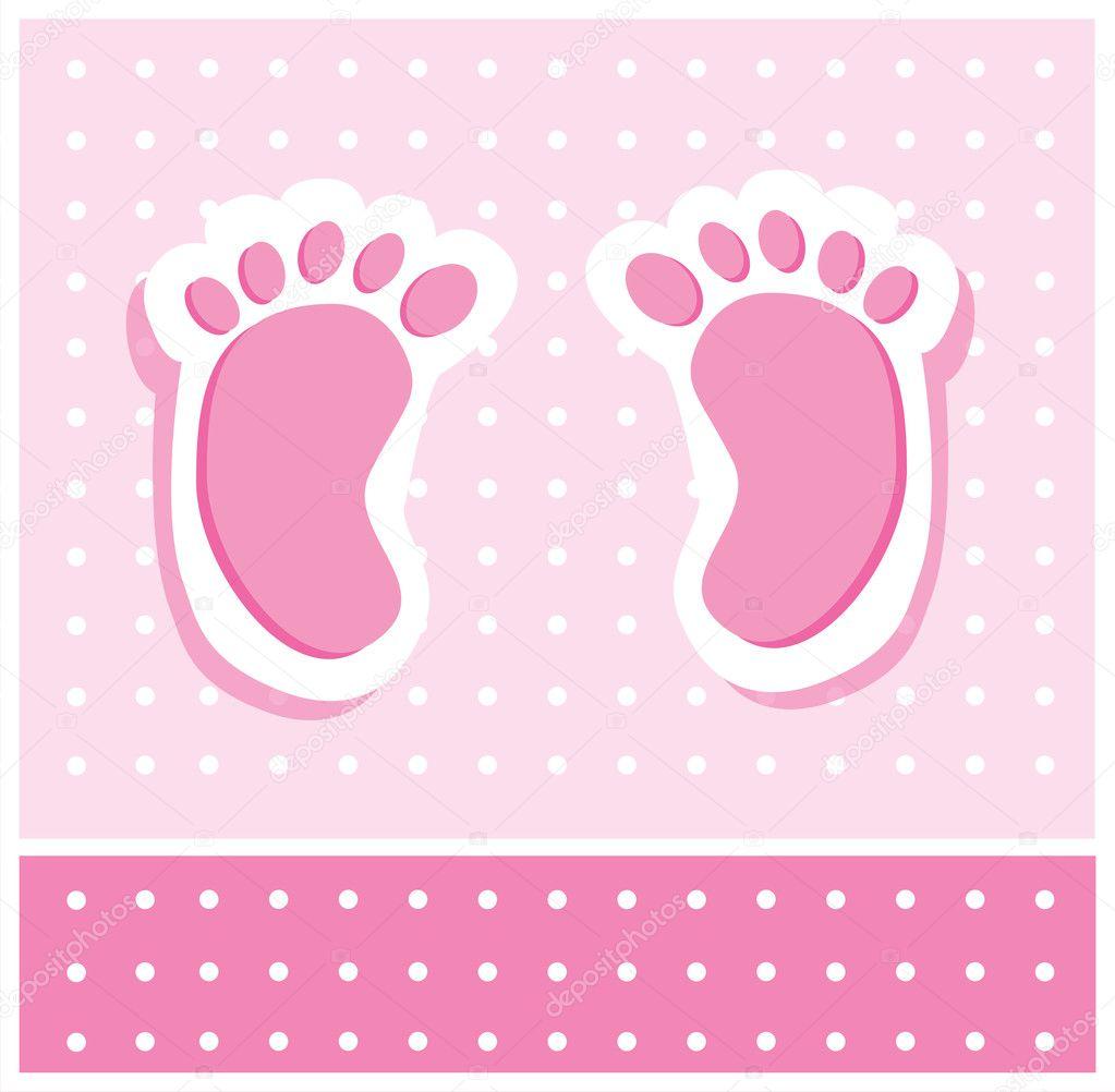 baby m dchen f e stockvektor keeweegirl 5620168. Black Bedroom Furniture Sets. Home Design Ideas