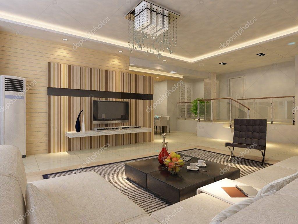 Modern Living Room.3d Render. U2014 Photo By Baojia1998