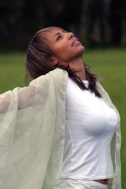 Woman Celebrating Outdoors (1)