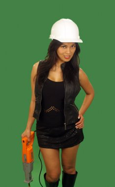Beautiful Asian Female Construction Worker (3)