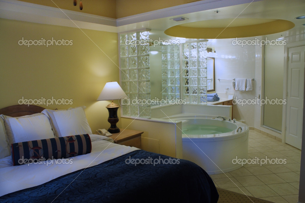Master Bedroom With Jacuzzi Tub Stock Photo Csproductions 6203264