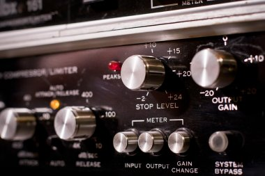 Control panel of a sound mixer