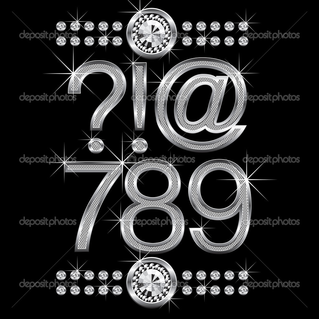 Metal Letters And Numbers Fair Thin Metal Diamond Letters And Numbers Big And Small — Stock Decorating Inspiration