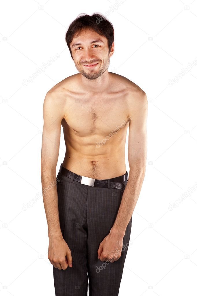 sehr dünner Mann — Stockfoto © itutya #6057858