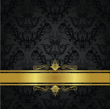 Luxury charcoal and gold book cover