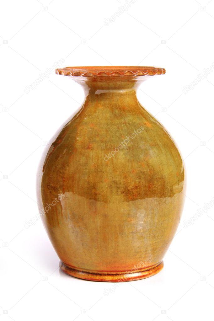 275 & Clay flower vase \u2014 Stock Photo © ronstik #5961833