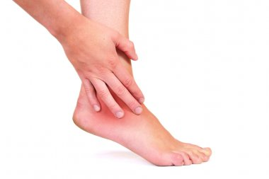 Injured ankle