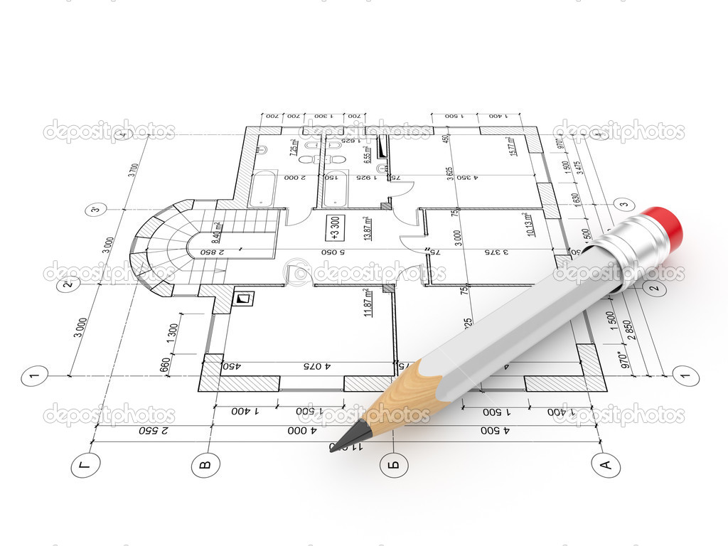 Plan of construction isolated 3d illustration stock for Plan construction