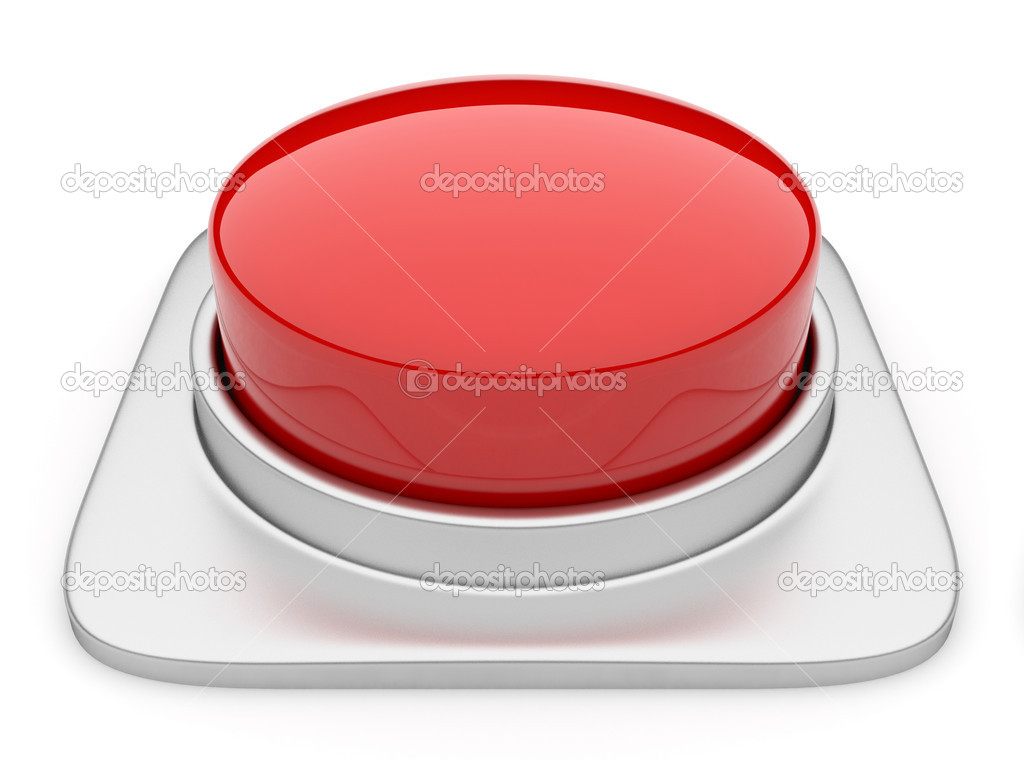 Red button 3d Illustration. Icon isolated