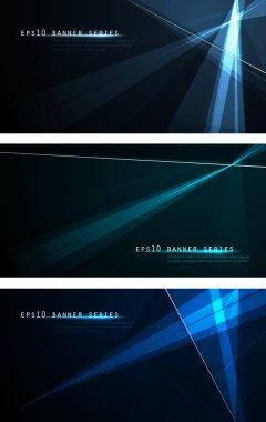 Tech Banners | Dark Design Template for Masculine Designs