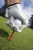 umístění golfový míček na tričko