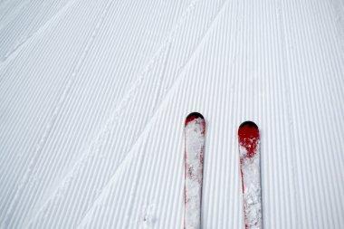 Ski and snow background