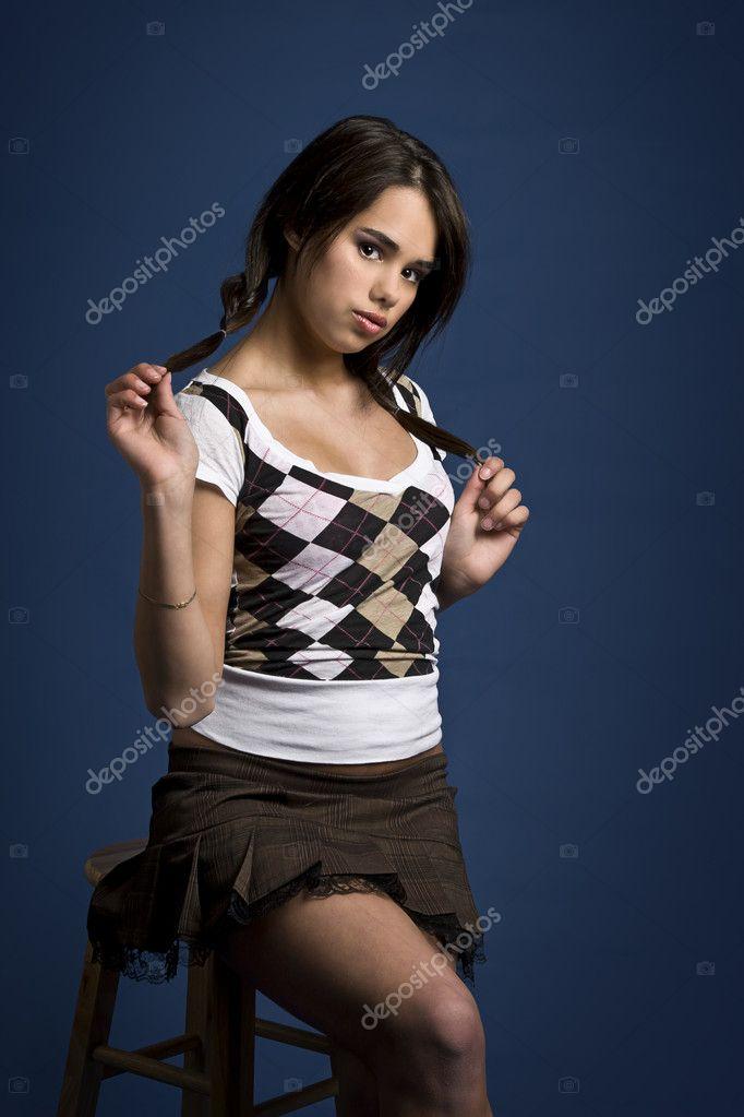 Etudiante Sexy Photo étudiante sexy — photographie mypstudio © #6253232