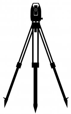Digital geodetic instrument for precise angles and distance measurement clip art vector