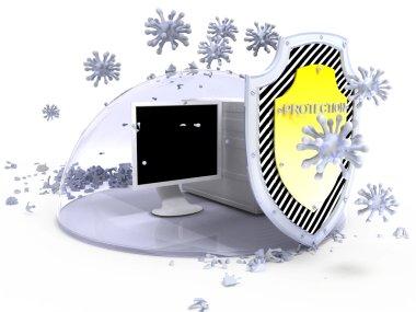 Virus protection computer