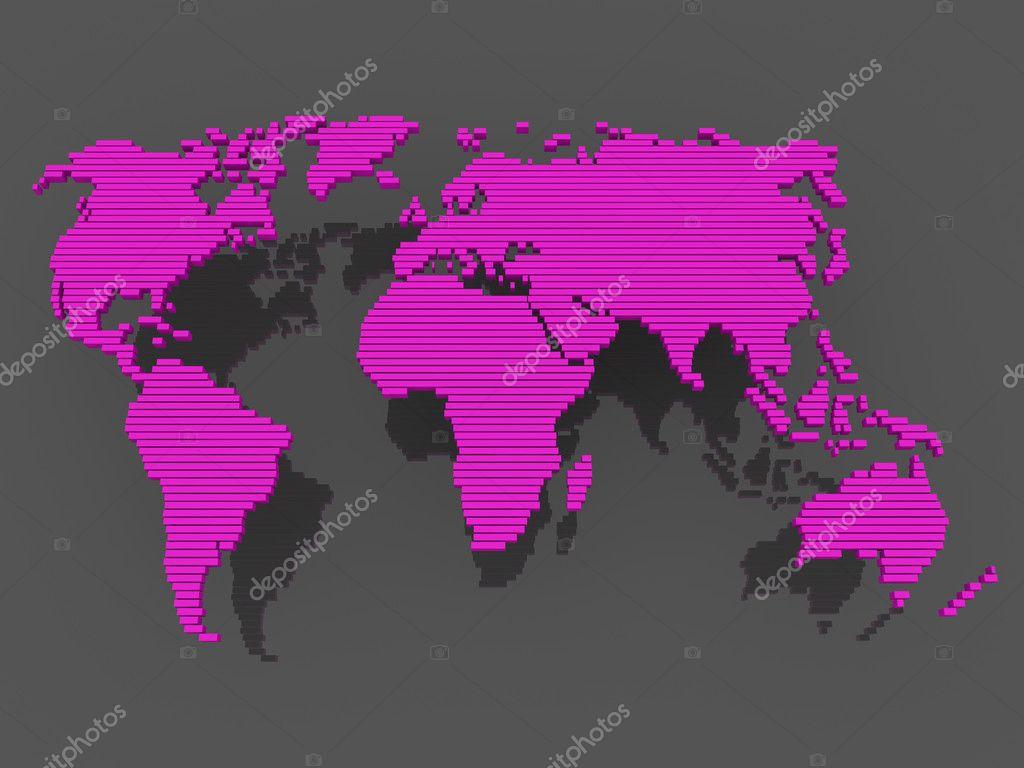 World map black purple stock photo dariusl 5659921 world map black purple stock photo 5659921 gumiabroncs Choice Image