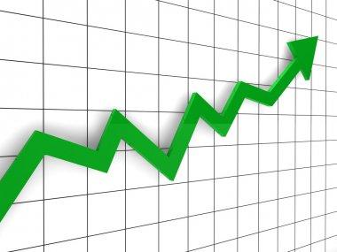 3d graph arrow green