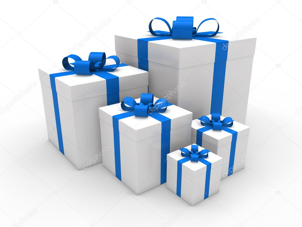 Geschenkkarton Weihnachten.3d Blau Geschenkkarton Weihnachten Stockfoto Dariusl 6540258