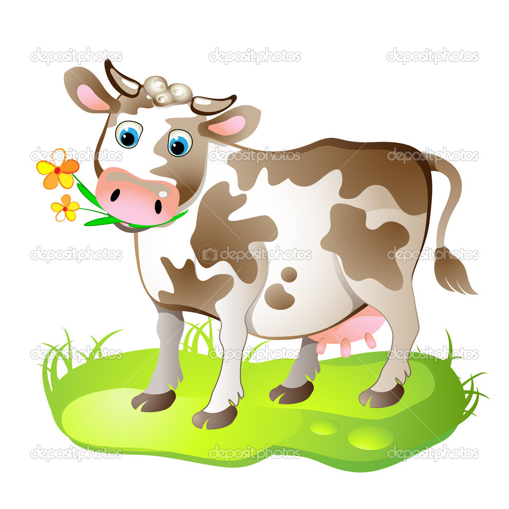 Cartoon character of cow
