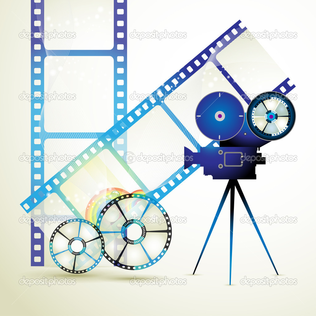 Circle film frames with camera — Stock Vector © Merlinul #6486237