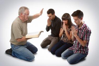 Leading three to Christ
