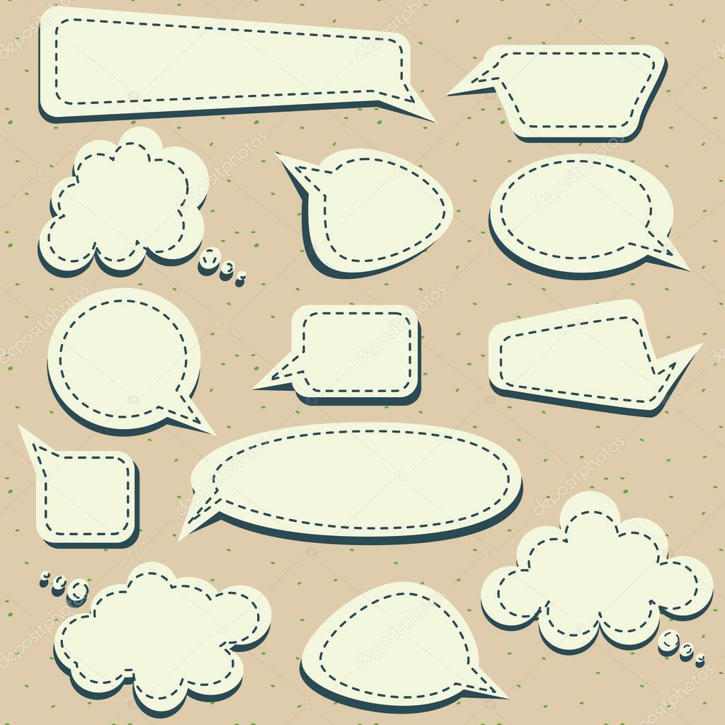 Set of speech and thought blobs