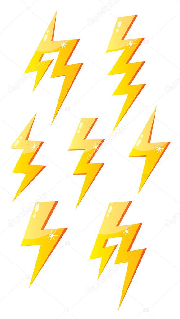 Cartoon lightning