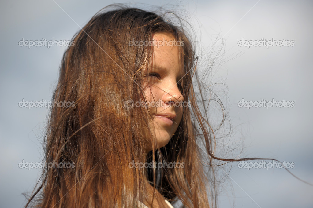 Windswept Hair Stock Photo C Evdoha 6641550