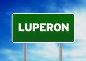 zelené dopravní značka - luperon, Dominikánská republika