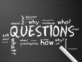 Fotografie Chalkboard - Questions