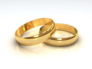 Layered Golden Wedding Rings