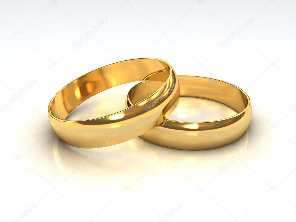 Layered Golden Wedding Rings Stock Photo C Tristan3d 6125163