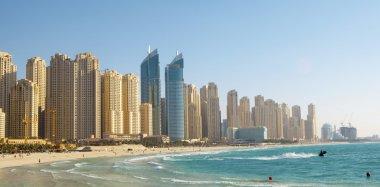 Beach in Dubai. Panoramic view.