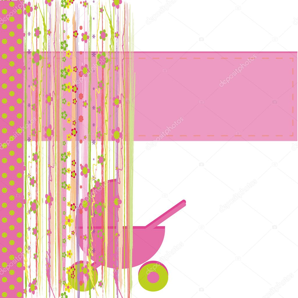 Greeting cards for baby girl stock vector marifa 6519237 greeting cards for baby girl stock vector kristyandbryce Image collections