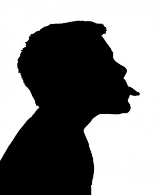 Isolated Boy Child Gesture Sticking Out Tongue