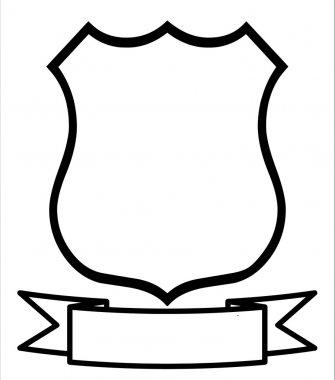 Empty Blank Emblem Badge Shield Logo Insignia Coat of Arms stock vector