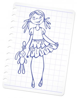 Sketch fashion girl