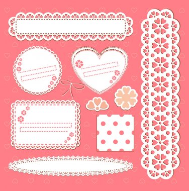 Cute lace frames collection