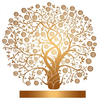 Vector gold tree