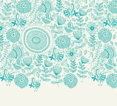 Vector background with a flower pattern
